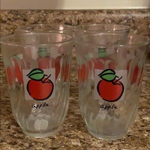 Vintage Antique 1950s Art Deco Apple Glasses